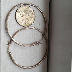 Sterling hoop earrings